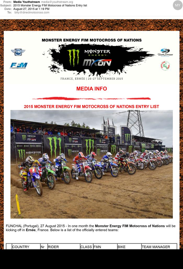 2015 Monster Energy FIM Motocross of Nations Entry list-1
