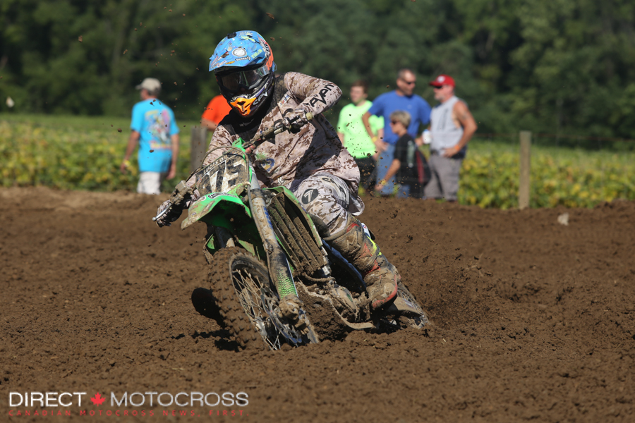 #975 Jake Loberg raced a few Canadian Nationals in 2014. He didn't make the motos Saturday.