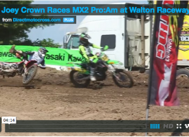Video: Joey Crown Races Pro/Am at Walton Raceway