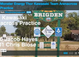 Monster Energy Thor Kawasaki Arenacross Practice