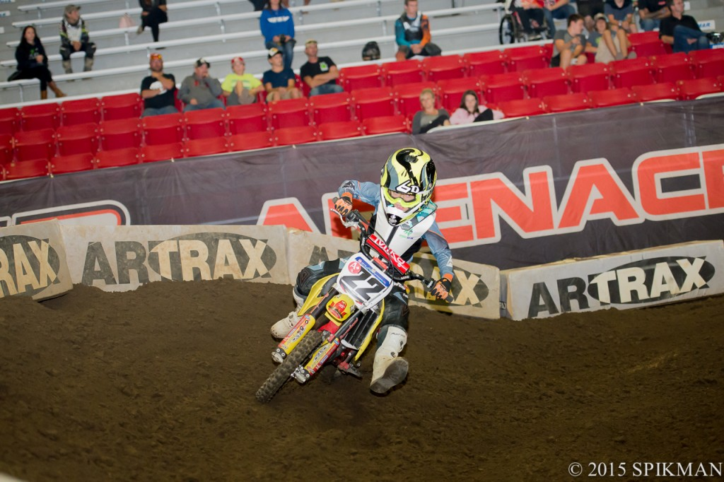 #22 Preston Masciangelo was the fast one to watch in the 50cc class.
