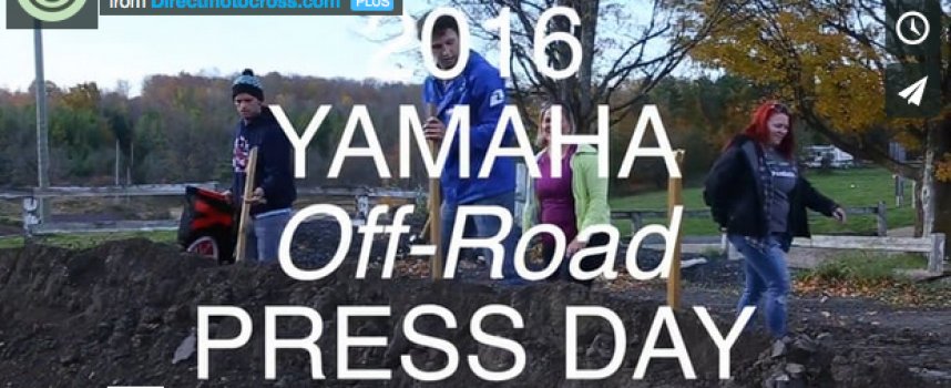 2016 Yamaha Off-Road Press Day at Motopark