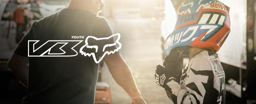 NEW Fox Youth V3 helmet video release