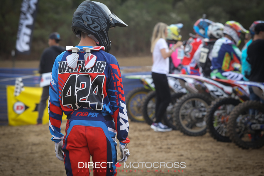 #424 Austin Watling eyeing up some gate options.