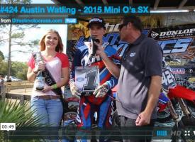 #424 Austin Watling – 2015 Mini O's SX